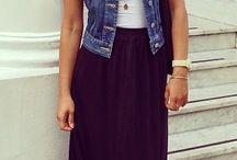 Outfits • denim vest