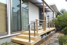 Wood deck(My works) / I design, it is a site that was constructed. 私がデザイン、施工した現場です。