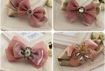 Ribbon bows ~ Hair accessories
