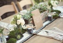 Long table decor ideas / by The Wedding Zone