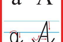 Alfabet, pisany do druku