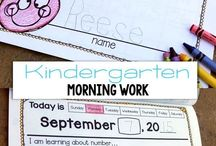 KINDER morning work / by Bailee Stich
