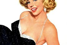 Fifties Pin-up illustrations