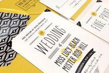 Trouwkaarten ♥ GEEL / Trouwkaart ontwerpen met geel als accent kleur.