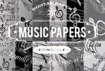 MUSIC PAPERS / DIGITAL PAPERS - MUSIC PAPERS BY DIGITAL PAPER SHOP