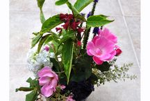 Flower Arranging / Some flower arrangements, made from flowers grown in our garden