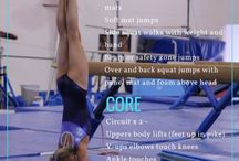 Gymnastics Conditioning / Home workouts and circuits to stay in shape. Conditioning exercises to do at the gym. Ways to strengthen your body for Gymnastics or for general conditioning.