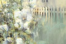 Abstract Landscape Paintings by Intuitive Artist Joan Fullerton / Abstract Landscape Paintings by Intuitive Artist Joan Fullerton