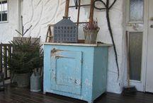 Sjarmerende slitt / Eldgammel kjøkkenbenk
