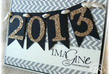 Stampin' Up! New Year's Cards / Ring in the New Year Stampin' Up! style with these fun cards and projects!