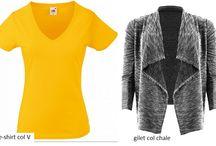 garde robe morphologie  en v