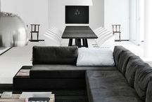 Scandinavian design / Kitchen White Black Furniture Design