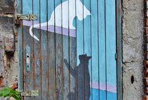 Porte e finestre dipinte