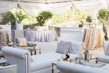 Event: An Elegant Fall Affair / The WM Events team designed a sophisticated event hosted at the Swan House under a clear-top tent, complete with fall floral, elegant lounge, and decor accents.