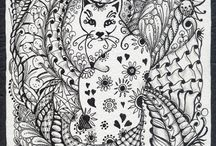 Zentangle + cats