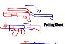 총기류 그리기 방식 / 중세 후기이자 화약시대 초기의 손화포부터 21세기의 최신식 총기류을 어떻게 그리는가 혹 SF에서 볼법한 총기 외형 그리는 식등 모으고 있는 자료 보드입니다.
