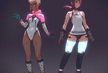 cyberpunk comic/anime characters