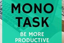 Monotasking & Minimalism Inspiration