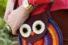 Crochet bolsos, carteras, estuches, etc