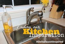 Inspired Living ... in the kitchen / Ideas for a kitchen renovation... with a little help from #DeltaFaucetInspired  #sponsored