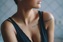 Short hair & bald headed woman