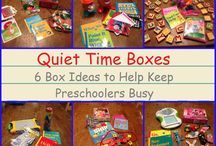 Quiet activities/busy bags for pre k