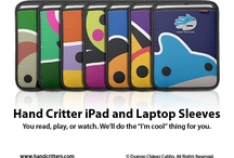 iPad and Laptop Sleeves / Protect and personalize your iPad and laptop with a stylish and colorful sleeve featuring your favorite animal or fantasy creature. See the whole collection at www.handcritters.com / by Hand Critters