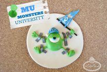 Monsters Party Inspiration / Ideas for a Monsters University celebration, based on the Disney Pixar Monster series.