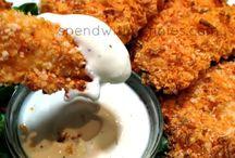 Chicken dishes / Chicken fingers with Doritos