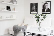 Svart/hvitt interiør