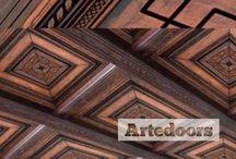 Decoración techos de madera
