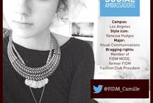 FIDM Social Ambassador Camille / Get to know FIDM Social Ambassador Camille Nichelini, a Visual Communications Student at our Los Angeles campus (and former high school FIDM Fashion Club President). Her style varies between bohemian and grunge and she enjoys and she's inspired by Emma Watson. Follow Camille on Twitter @FIDM_Camille for live updates about his life as a student at FIDM. Read more about her here: http://bit.ly/ZQgfUX / by FIDM/Fashion Institute of Design & Merchandising