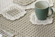 crochet plate mat
