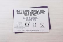 Fun Wedding Invite & Sign Wording / Fun wedding invite ideas and wording for signs