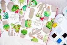 Cactus scrapbook papier