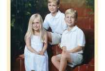 Sibling Oil Portraits / Sibling oil portraits hand painted by Leon Loard Oil Portraits