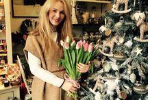 Christmas / Galeria kvetin a jej zasnežené kvetinarstvo