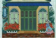 cross stitch houses...