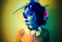 Day of the dead, sugar skull makeup, inspiration