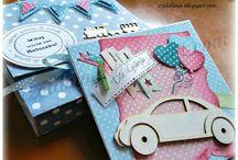 kartki dla dzieci / kartki ręcznie robione dla dzieci z okazji urodzin, narodzin itp