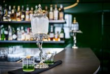 Green Bar - London / The elegant Hotel Café Royal rests between Mayfair and SoHo, in the heart of London's fashion and creative neighbourhoods.  At its heart, travellers will discover a stunning and historic bar, the Green Bar, which features a historic cocktail menu and a variety of traditional absinthe fountains.  http://hotelcocktail.com/green-bar-london/