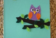 owls craft and pillows