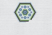 LA passion hexagon quilt