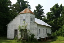 old country churches / by Gabby Hall