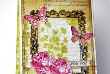 Stampin up Papaya Collage / Examples of projects made with the stampset from Stampin up