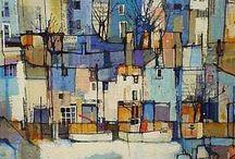 huizen abstract