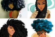 Curly queens