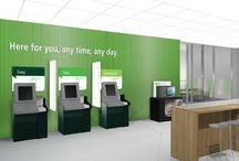 Bank Automatenwand