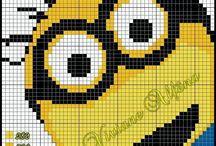 grille c2c crochet minion