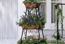 wrought iron planter